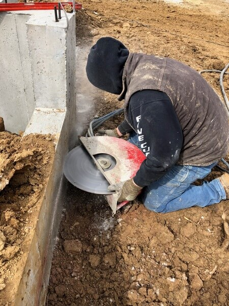 Concrete hand sawing by Fine Cut USA is easier than using a traditional wall saw.