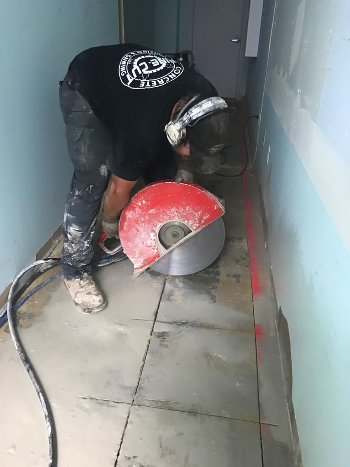 Concrete hand sawing gets the job done with Fine Cut.