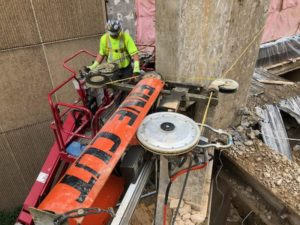 Fine Cut Concrete Wire Sawing Employs Innovative Diamond Technology