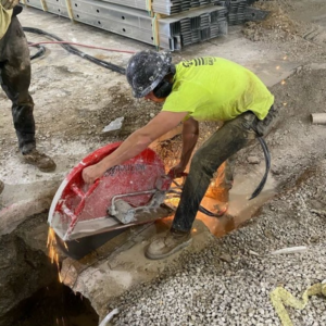 Concrete Wall Sawing Provides for Cutting Openings and Demolition Fine Cut USA