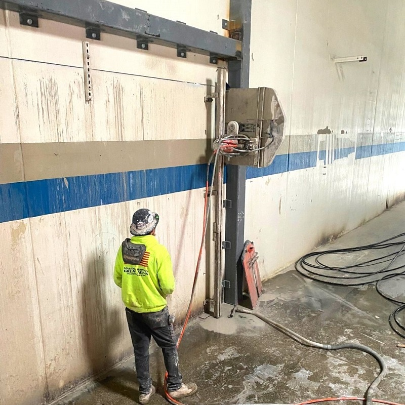 fine cut Concrete Wall Sawing Involves Specialized Techniques