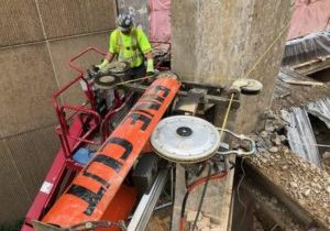 Fine Cut Concrete Wire Sawing Employs Innovative Diamond Technology
