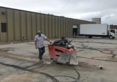 Fine Cut USA Concrete Slab Sawing Quick Efficient When Street Cuts Needed